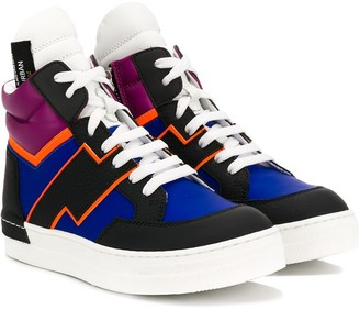 Cinzia Araia Kids colour blocked high top sneakers