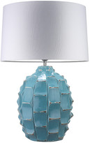 Heathfield & Co Bayern Table Lamp - Turquoise / White