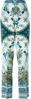 Etro printed silk trousers - women - Silk - 44