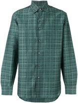 Brioni checked shirt - men - Cotton/Linen/Flax - L
