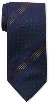 Moschino Navy Stitched-Pattern Silk Tie