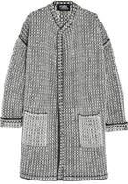 Karl Lagerfeld Oversized Bouclé-knit Cardigan - Gray