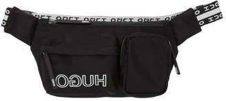 HUGO Black Reverse Logo Belt Bag