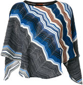 Missoni zigzag knitted poncho - women - Acrylic/Wool - One Size