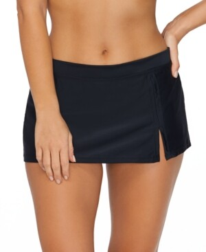 Island Escape Swimwear Sahara Solids Swim Skirt, Created for Macy's Women's Swimsuit