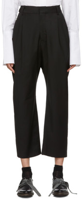 Studio Nicholson Black Double Pleated Trousers