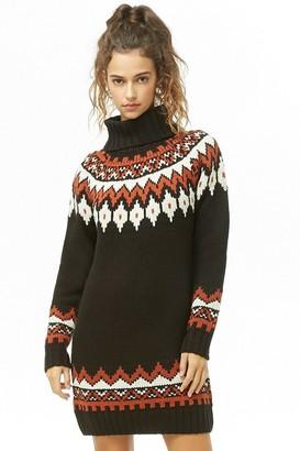 Forever 21 Geo Print Sweater Dress