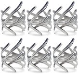 DII Napkin Rings for Dinners, Parties, Everyday, for Dinners, Parties, Everyday, Set of 6, Silver Branch