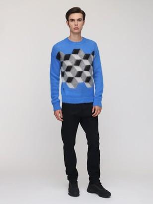 MONCLER GENIUS Fragment Mohair Blend Knit Sweater