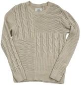 AllSaints Tan Cableknit Cotton Blend Sweater