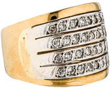 Ring 18K Two-Tone Diamond Band