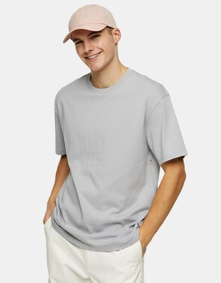 Topman oversized t-shirt in gray marl
