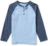 Class Club Big Boys 8-20 Raglan-Sleeve Color Block Henley Shirt