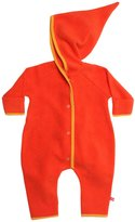 Zutano Cozie Fleece Elf Bodysuit - Pool- 3 Months