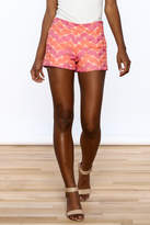 Judith March Bright Crochet Shorts