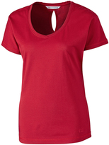 Cutter & Buck Cardinal Red Dynamic Keyhole Tee