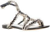 Max Studio Vocal - Fringed Ribbon Flat Sandals