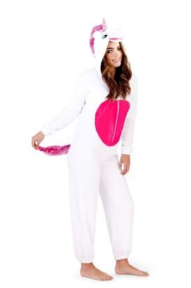 Style It Up Womens/Ladies Unicorn Animal Novelty Onezie Soft Fleece Loungewear Pyjama All in