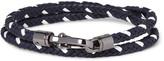 Tod's - Two-tone Woven Leather Wrap Bracelet