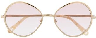 Chloé Eyewear Round Frame Tinted Sunglasses