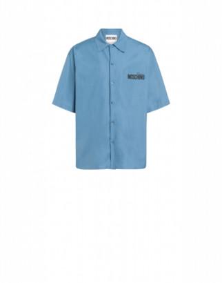 Moschino Couture Poplin Shirt Man Blue Size 37 It