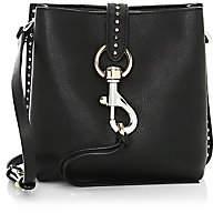 Rebecca Minkoff Women's Mini Megan Studded Leather Feed Bag