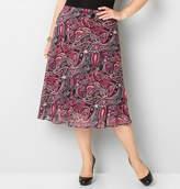 Avenue Paisley Chiffon Skirt