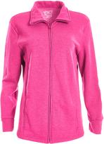Hanes Jazzberry Pink Heather Fleece Zip-Up Jacket - Plus
