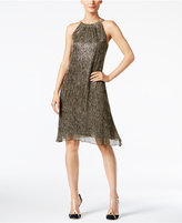 Alfani Metallic Hardware Halter Dress, Only at Macy's