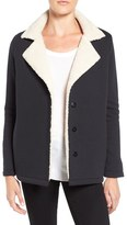Velvet by Graham & Spencer Women's French Terry Jacket With Faux Shearling Lining