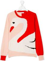 Stella McCartney Lucky swan jumper