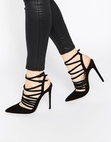 Asos POWER Caged Pointed Heels