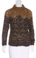 Dries Van Noten Alpaca-Blend Mock Neck Sweater
