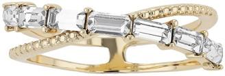 Brilliance+ Brilliance Textured X-Ring with Swarovski Crystal