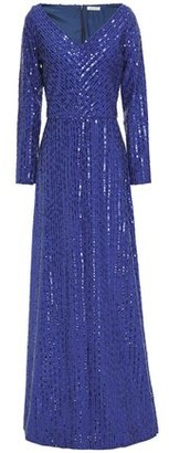 Nina Ricci Sequin-embellished Crepe Gown