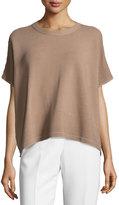 Lafayette 148 New York Ottoman Short-Sleeve Sweater, Hickory