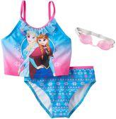 Disney Disney's Frozen Elsa & Anna Girls 4-6x 2-pc. Mesh Ruffle Tankini Swimsuit Set