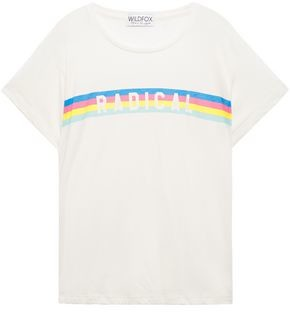 Wildfox Couture Printed Cotton-blend Jersey T-shirt