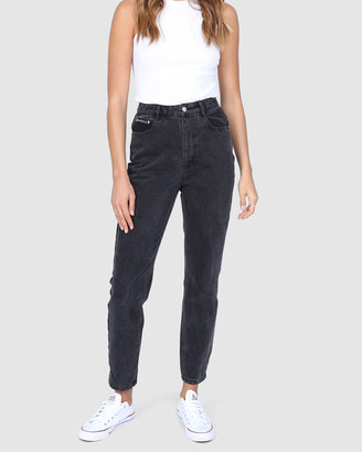 BY.DYLN - Women's Black Mom Jeans - Harlow Mom Jeans - Size One Size, XS at The Iconic