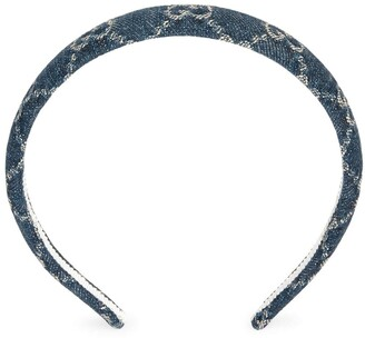 Gucci GG supreme denim hair band