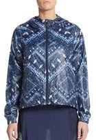 Nanette Lepore Packable Batik-Print Hooded Jacket