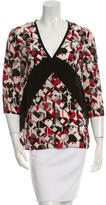 Prada Silk Printed Top