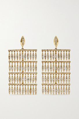 Ileana Makri Grass Raining Drops 18-karat Gold Diamond Earrings