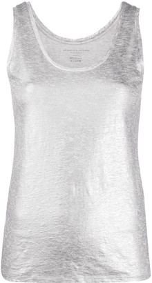 Majestic Filatures Metallic-Effect Tank Top