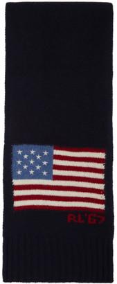 Polo Ralph Lauren Navy Wool Scarf