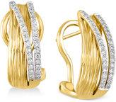 Effy D'Oro By Diamond Earrings (1/5 ct. t.w.) in 14k Gold