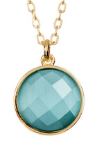 Melinda Maria Hunter Round Cat's Eye Stone Pendant Necklace
