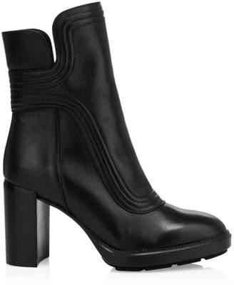 Aquatalia Illiana Block-Heel Leather Boots