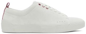 HUGO BOSS Off-White Suede Zero Tennis Sneakers