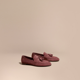 Burberry Tasselled Suede Loafers